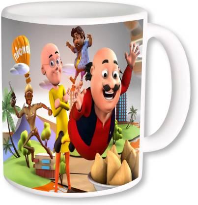 Heyworlds motu patlu o2 Ceramic Coffee Mug Price in India - Buy Heyworlds motu  patlu o2 Ceramic Coffee Mug online at Flipkart.com