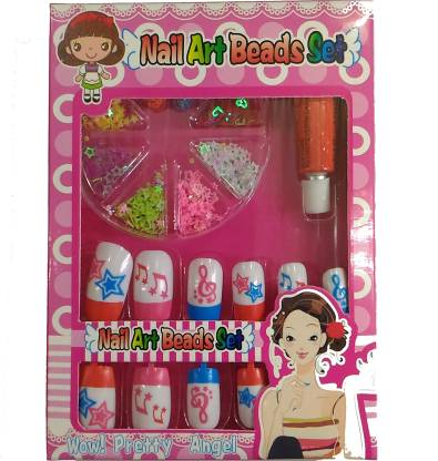 SENECIO™ Nail Art Gift Set Include Applicator Pre-Designed Nails & Glue Acrylic Tips Stud