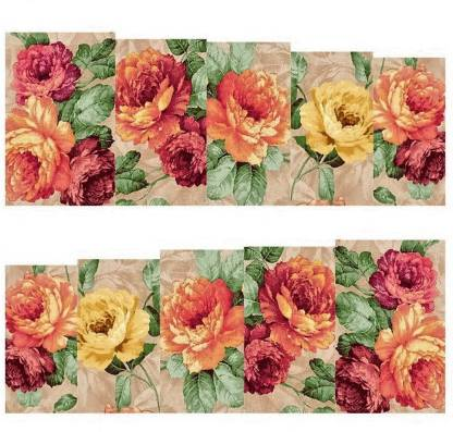 Azzuro Rose Flower Full Wraps Nail Art Manicure Decals Water Transfer Stickers 1 Sheet