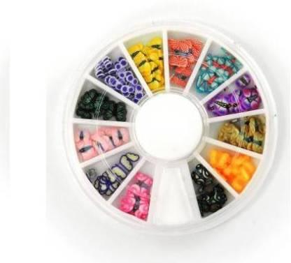 JMD HOMEWARE Nail Art Flowers Pastings (Multicolor)