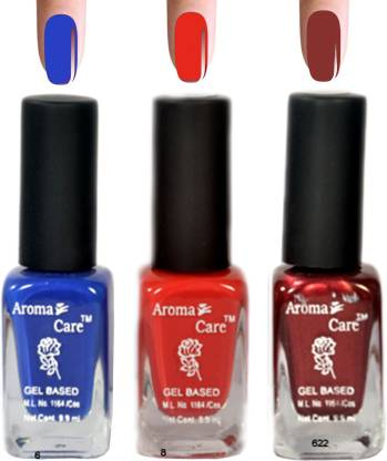 AROMA CARE Red+Maroon Nail Polish Combo 6-8-622 Multicolor,