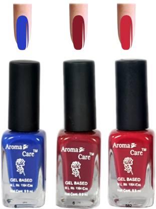 AROMA CARE Blue+Pink Matte Nail Polish Combo 6-9-582 Multicolor,