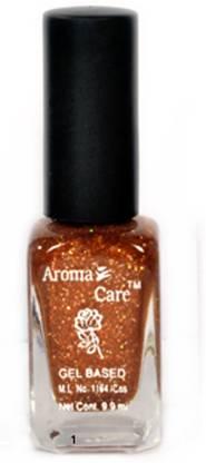 AROMA CARE Flat Brush Premium Glitter Quality Nail Polish 001 Golden