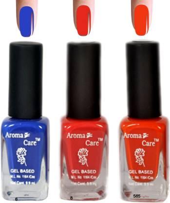 AROMA CARE Red+Orange Matte Nail Polish Combo 6-8-585 Multicolor,