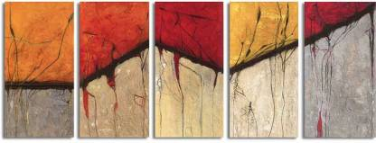 Painting Mantra Roots Art Print Set Canvas 32 inch x 12 inch Painting