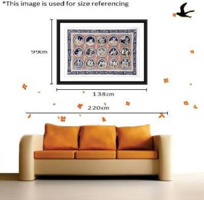 KalaSanthe The Complete Story Of Lord Sri Krishna Canvas 39 inch x 21 inch Painting