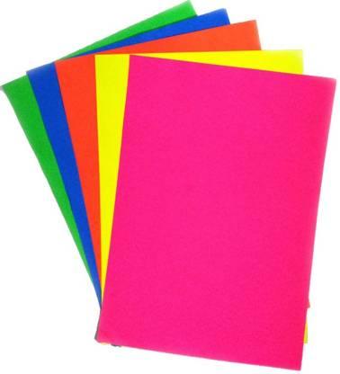 Ziggle Fluorescent Unruled A4 80 gsm Craft paper