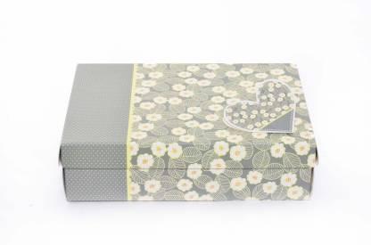 Enwraps Green Flowers Gift (1Pc) 23*17*6 (LBHcm) Printed Party Box