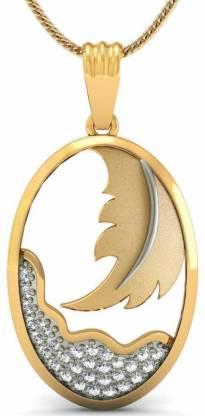 Rasav Jewels 18kt Diamond Yellow Gold Pendant