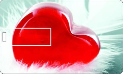 PRINTLAND Credit Card Soft Heart 8 GB Pen Drive