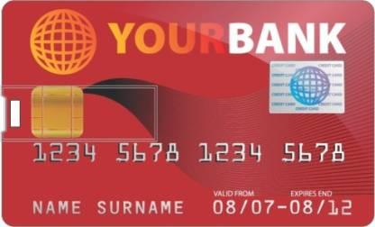 PRINTLAND Credit card Shape Pendrive PC85889 8 GB Pen Drive