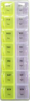 EVERGREEN 1 week Day and Night Manual Pill Box