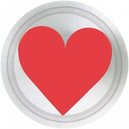 Amscan Love Metallic 7 inch Quarter Plate