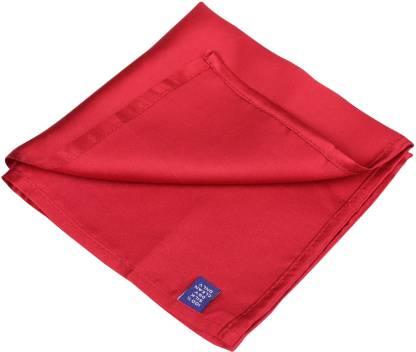 PARK AVENUE Solid Poly Silk Pocket Square