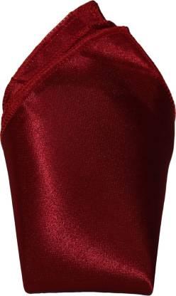 Air Fashion Solid Poly Silk Pocket Square