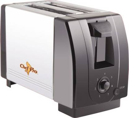 Chef Pro Compact Design with Browning Settings 750 W Pop Up Toaster