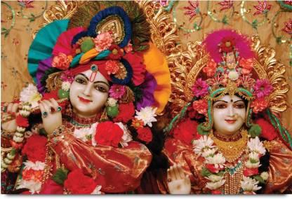 Decorated Shri Krishna And Radha Ji Paper Print Religious Posters In India Buy Art Film Design Movie Music Nature And Educational Paintings Wallpapers At Flipkart Com