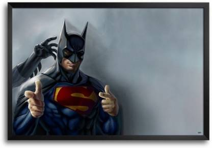 Superman Batman Fp00004624 Framed Photographic Paper
