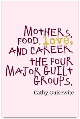 iMerch Food Love And Career Quotes By Cathy Guisewite Photographic Paper