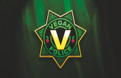 colormart vegan police poster Photographic Paper