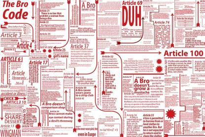 Athah Poster TV HIMYM Series The Bro Code By Barney Stinson 18x12 inch Paper Print