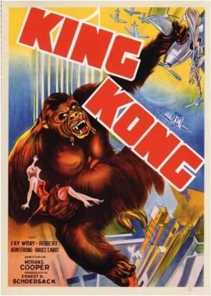 King Kong - The Fall - 1933 Paper Print