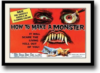 How to make a monster vintage movie Fine Art Print
