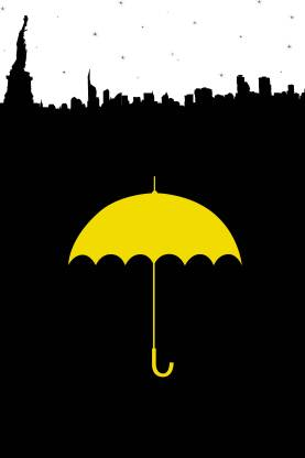 How I Met Your Mother - New York Skyline with The Umbrella Paper Print