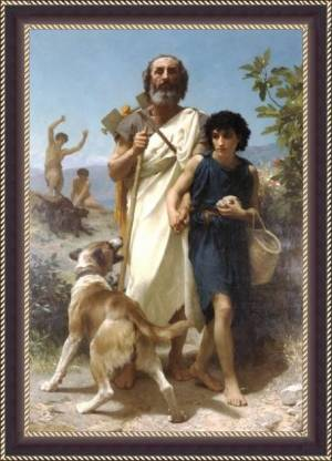 Homer And His Guide 1874 - ArtsNyou Printed Paintings Canvas Art