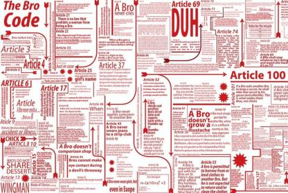 Athah Poster TV HIMYM Series The Bro Code By Barney Stinson Paper Print