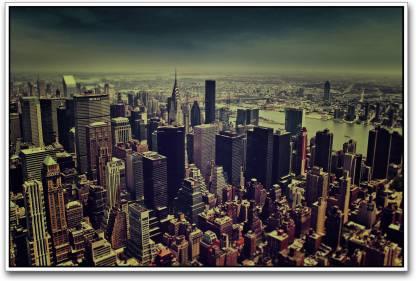 New york City Aerial Paper Print