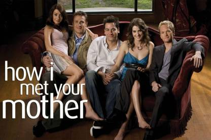 How I Met Your Mother - All On Couch Paper Print