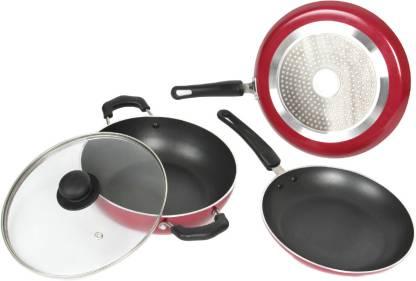Kreme Bottom Cookware Set Tawa 24 cm diameter with Lid