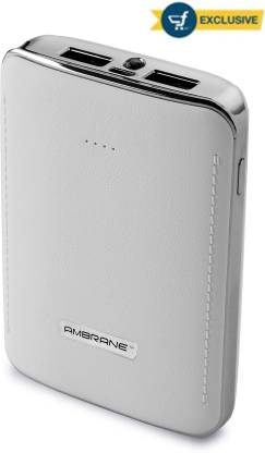 Ambrane 10050 mAh Power Bank (P-1001WHT, NA)