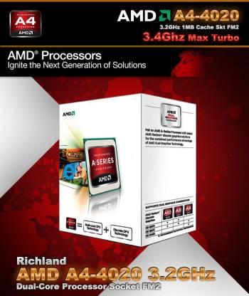 amd A4 4020 3.2 GHz FM2 Socket 2 Cores 1024 KB L2 Desktop Processor