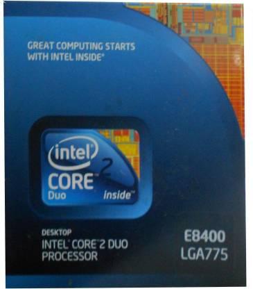 Intel Core 2 Duo E8400 3 GHz LGA 775 Socket 2 Cores 2 Threads 6 MB L2 Cache Processor
