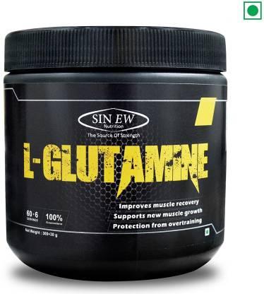 SINEW NUTRITION 100% Pure L-Glutamine Powder Glutamine