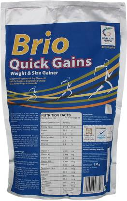 BRIO Quick Gains Weight Gainers/Mass Gainers