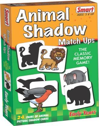 Smart Animal Shadow Match Ups(48 Pieces)