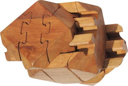 Funrally 3D Wooden Tetradecahedron Jigsaw Puzzle - 3D Wooden  Tetradecahedron Jigsaw Puzzle . shop for Funrally products in India.    Flipkart.com