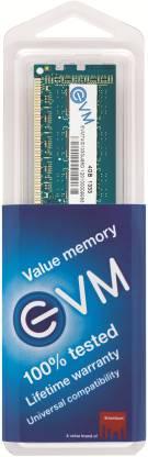 EVM DDR3 4 GB (Dual Channel) PC DRAM (EVMT4G1333U86D/ EVMT4G1333U88D)