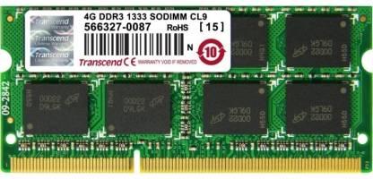 Transcend DDR3L DDR3 4 GB (Single Channel) Laptop DRAM (TS512MSK64V3H)