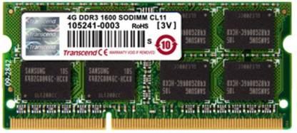 Transcend Laptop RAM DDR3 4 GB Laptop (TS215MS564W6H)