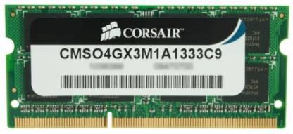 CORSAIR DDR3 4 GB Laptop DRAM (CMSO4GX3M1A1333C9)