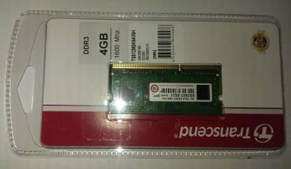Transcend DDR3 1600mhz DDR3 4 GB (Single Channel) Laptop (TS512MSK64V6H)