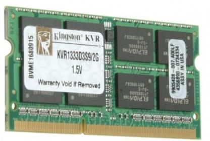 KINGSTON DDR3 2 GB Laptop DRAM (KVR1333D3S9/2G)