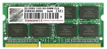 Transcend DDR3-1333/PC3-10600 DDR3 2 GB Laptop DRAM (JM1333KSU-2G)