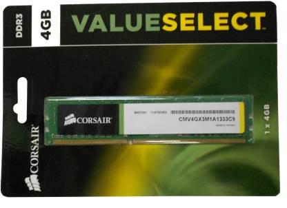CORSAIR NA DDR3 4 GB PC DRAM (CMV4GX3M1A1333C9)