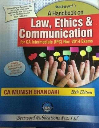 Law,Ethics & Communication For Ca Intermediate (Ipc)