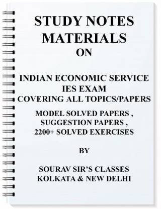 Study Notes Material For Ies Indian Economic Service
